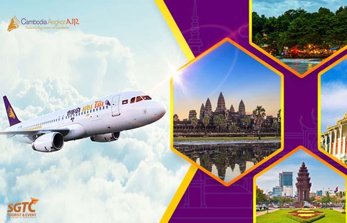 Tour Campuchia Máy Bay